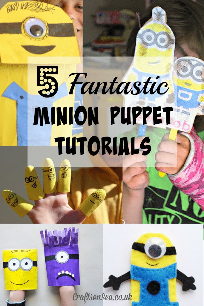 Minion puppet tutorials simple kids crafts ideas with the Despicable Me and Minions Movie stars