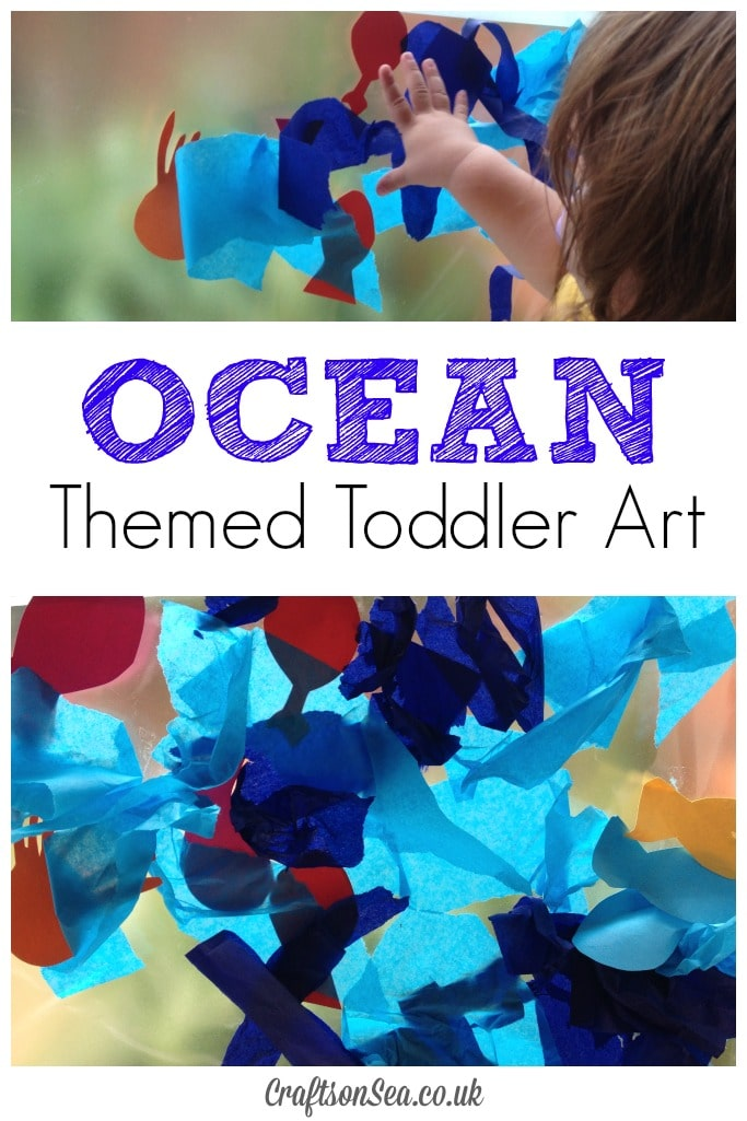Ocean Themed Toddler Art a fun sensory activity for kids