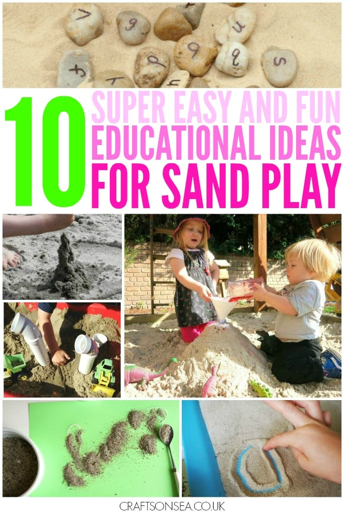 educational ideas for sand play eyfs prek