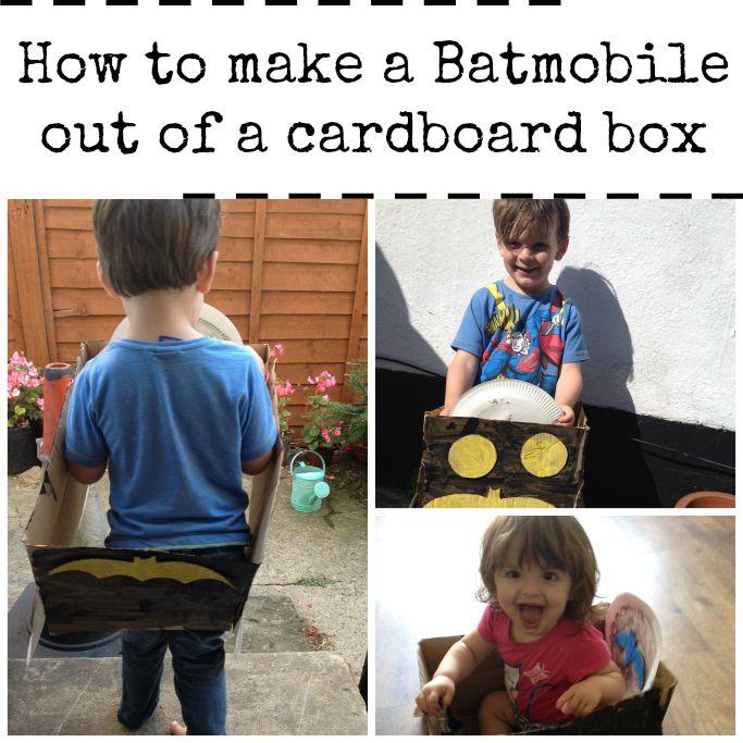 how to make a batmobile out of a cardboard box superhero activity