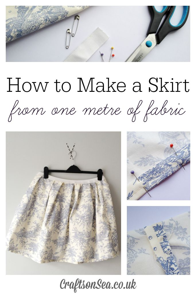 how to make a skirt from one metre of fabric