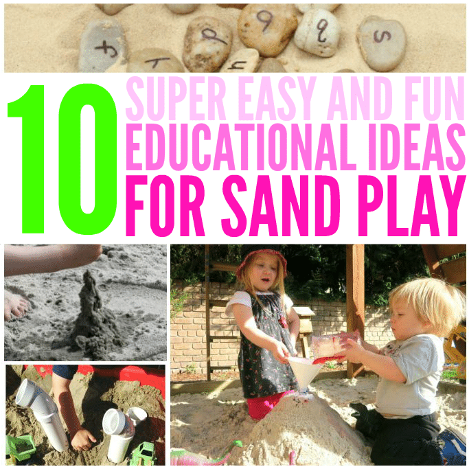 ideas for playing with sand educational