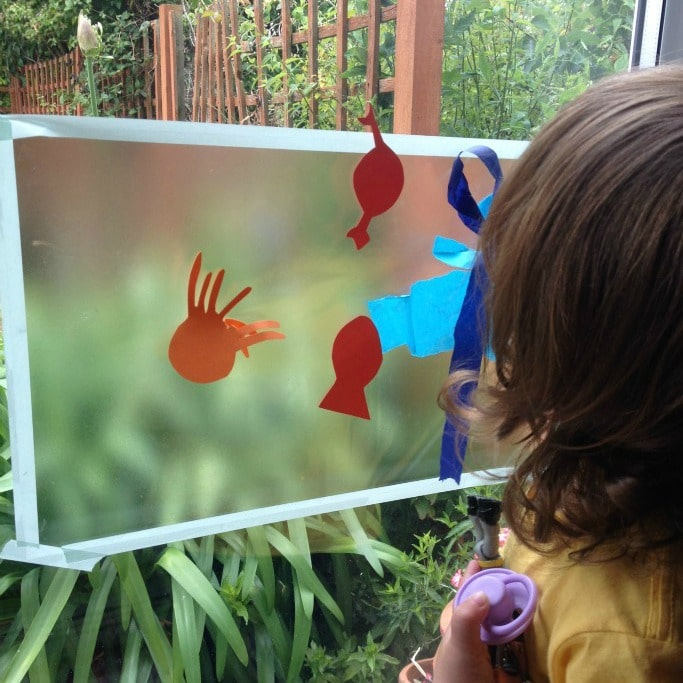toddler sensory ocean themed art and sensory idea