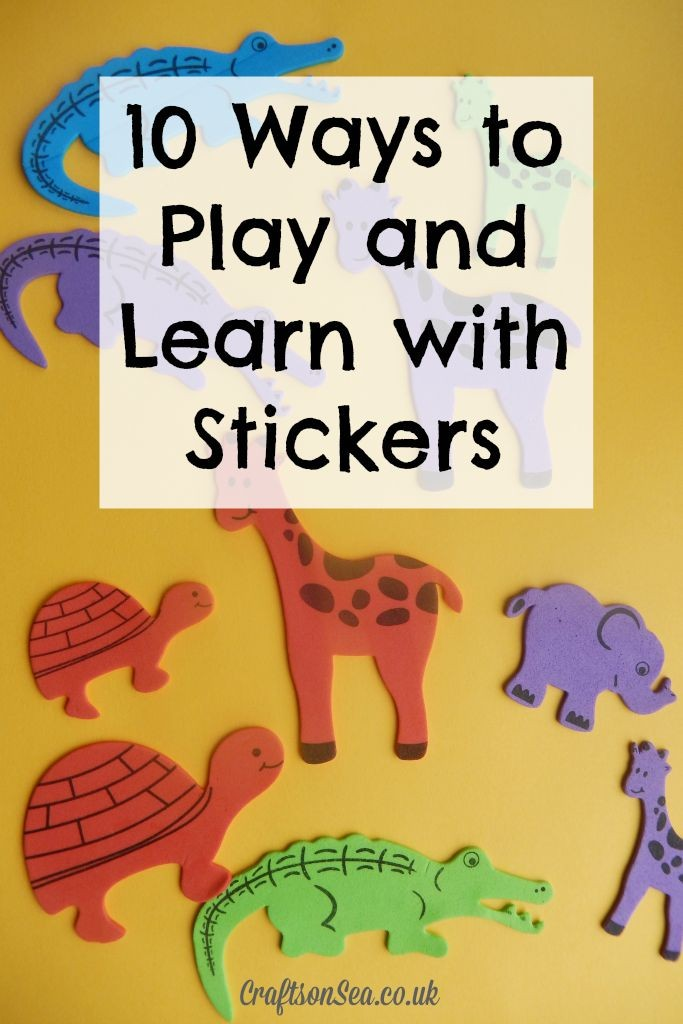 10 Ways to Play and Learn with Stickers