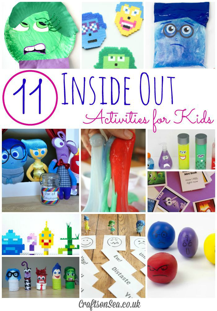 Inside out activities for kids crafts on sea for Emotion art projects