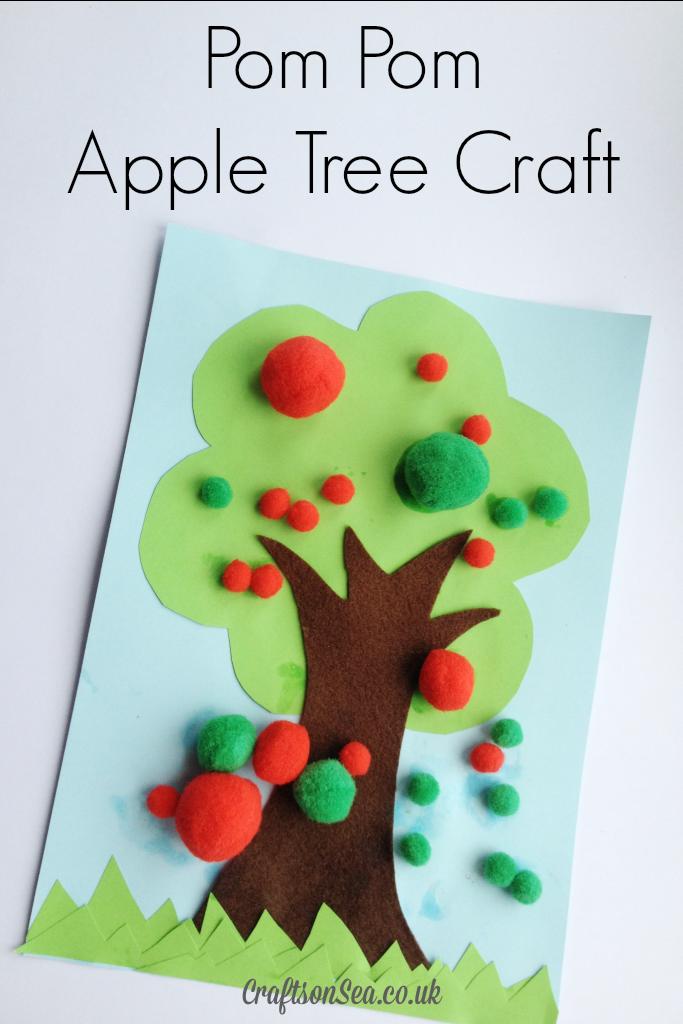 Pom Pom Apple Tree Craft