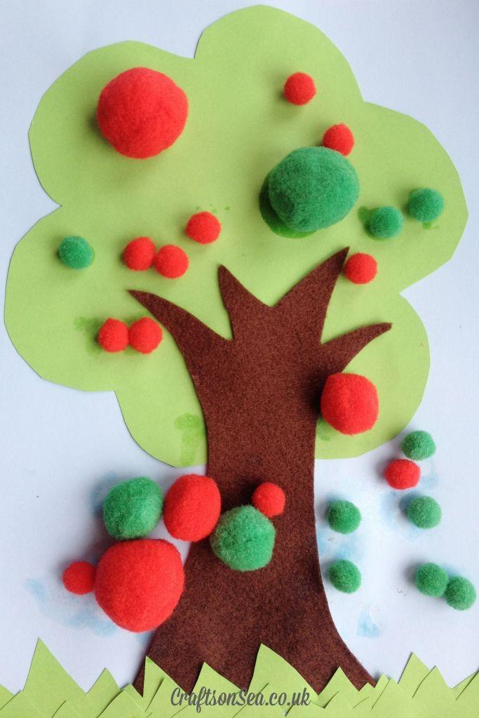 Pom Pom Apple Tree Craft for Toddlers