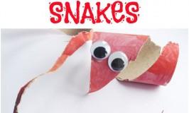 Scissor Skills Snakes Toilet Roll Craft