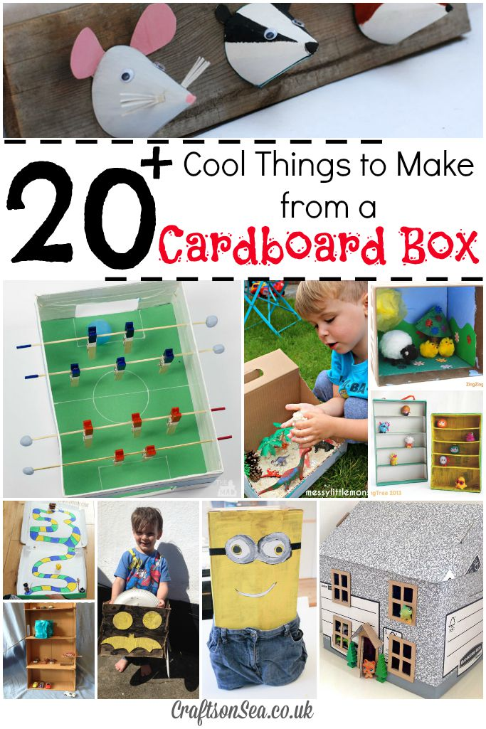 20 cool things to make from a cardboard box crafts on sea