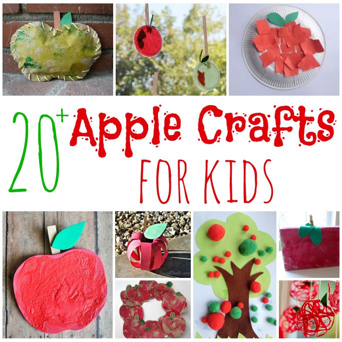 apple crafts for kids square