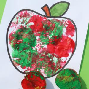 apple stamping craft kids