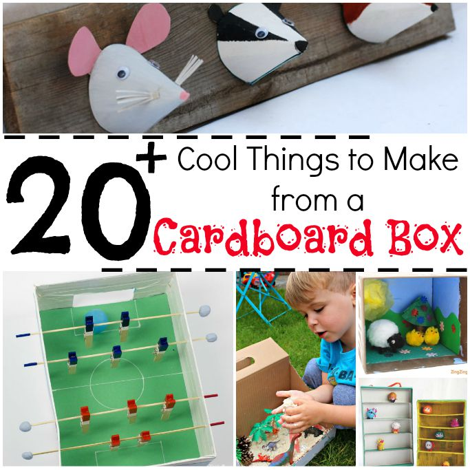 kids crafts with cardboard boxes