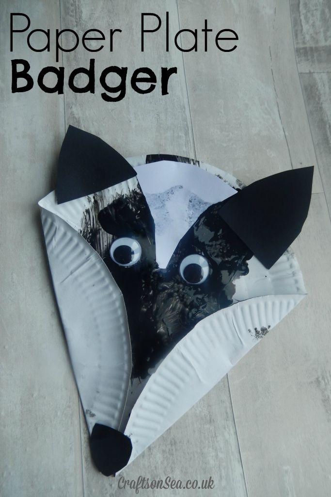 paper plate badger