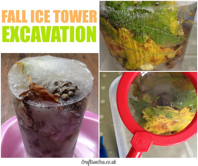 FALL ICE TOWER ACTIVITY FOR KIDS