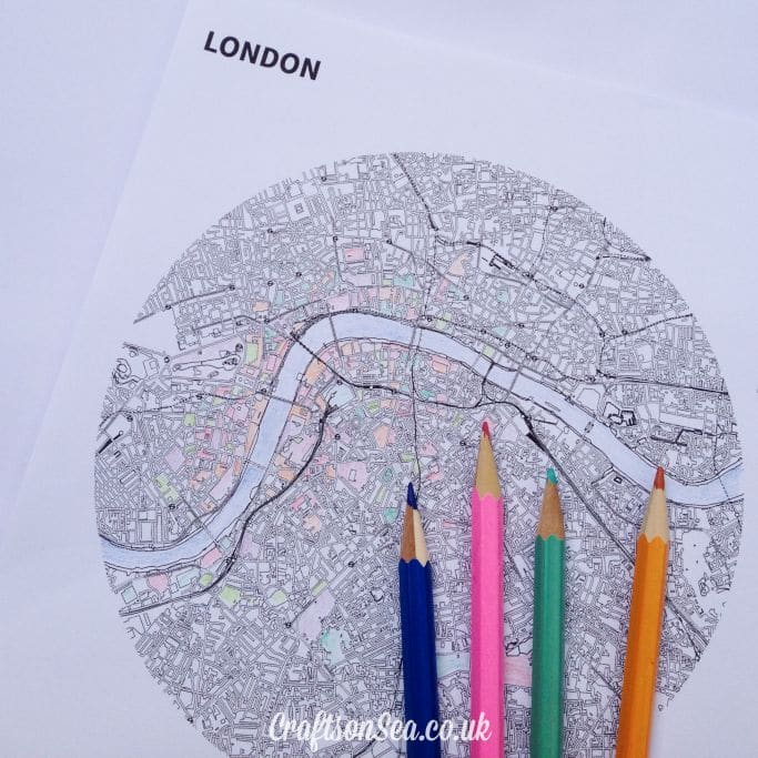 Free Colouring Pages for Adults london