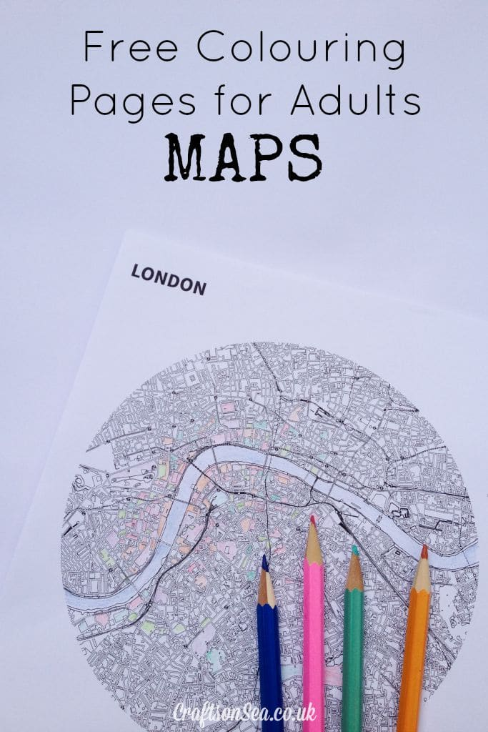 Free Colouring Pages For Adults Maps