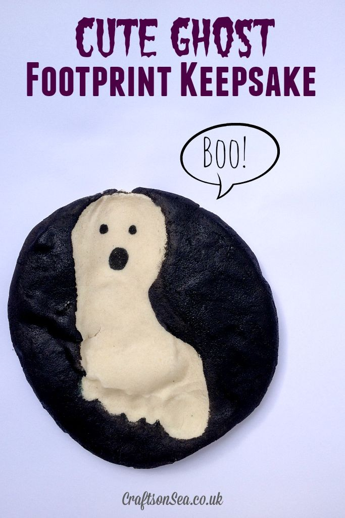 cute ghost footprint keepsake