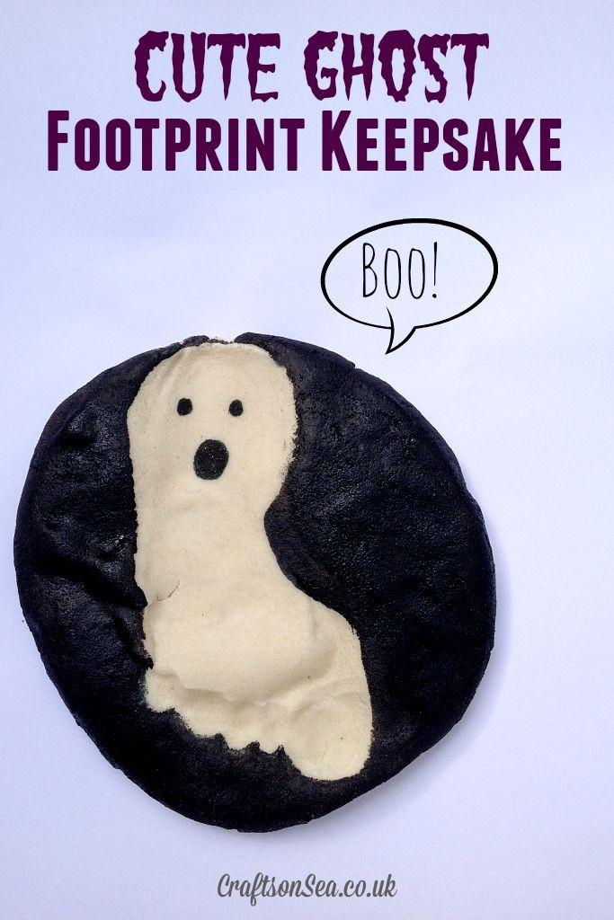 cute ghost footprint keepsake