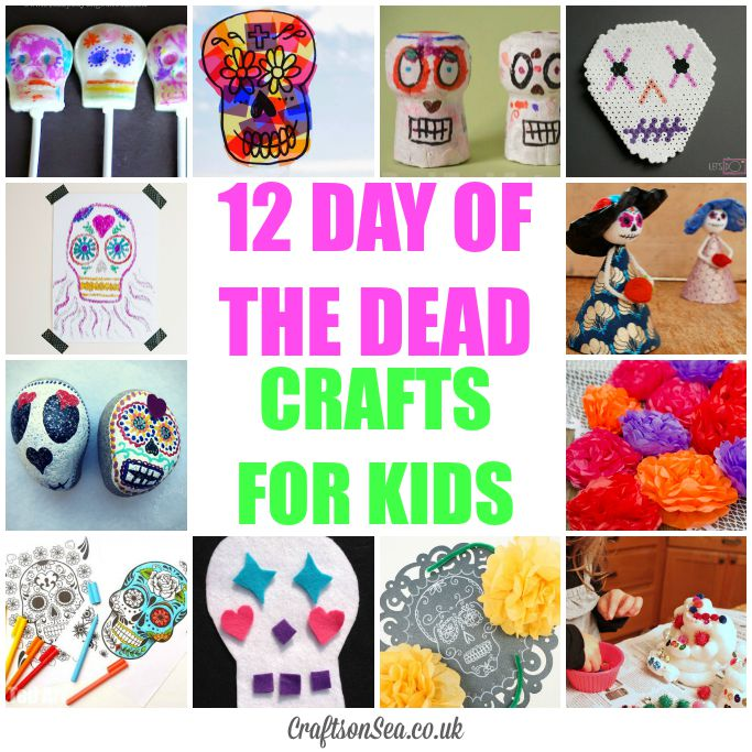 Day of the dead crafts for kids crafts on sea for Day of the dead arts and crafts