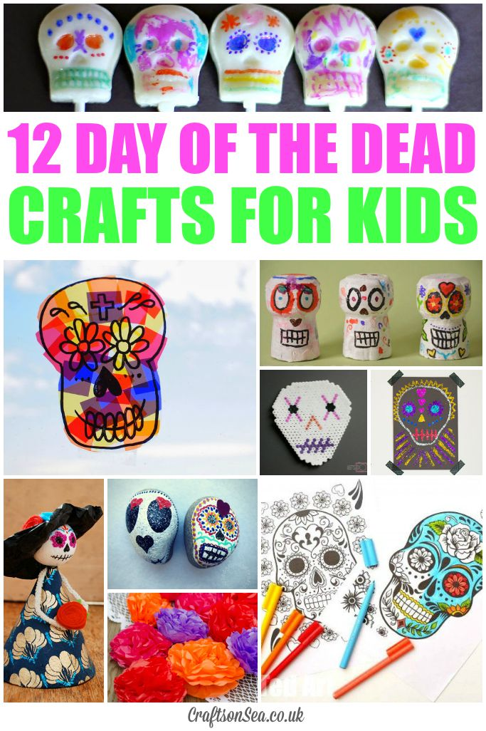 day of the dead crafts for kids crafts on sea On day of the dead crafts for preschoolers