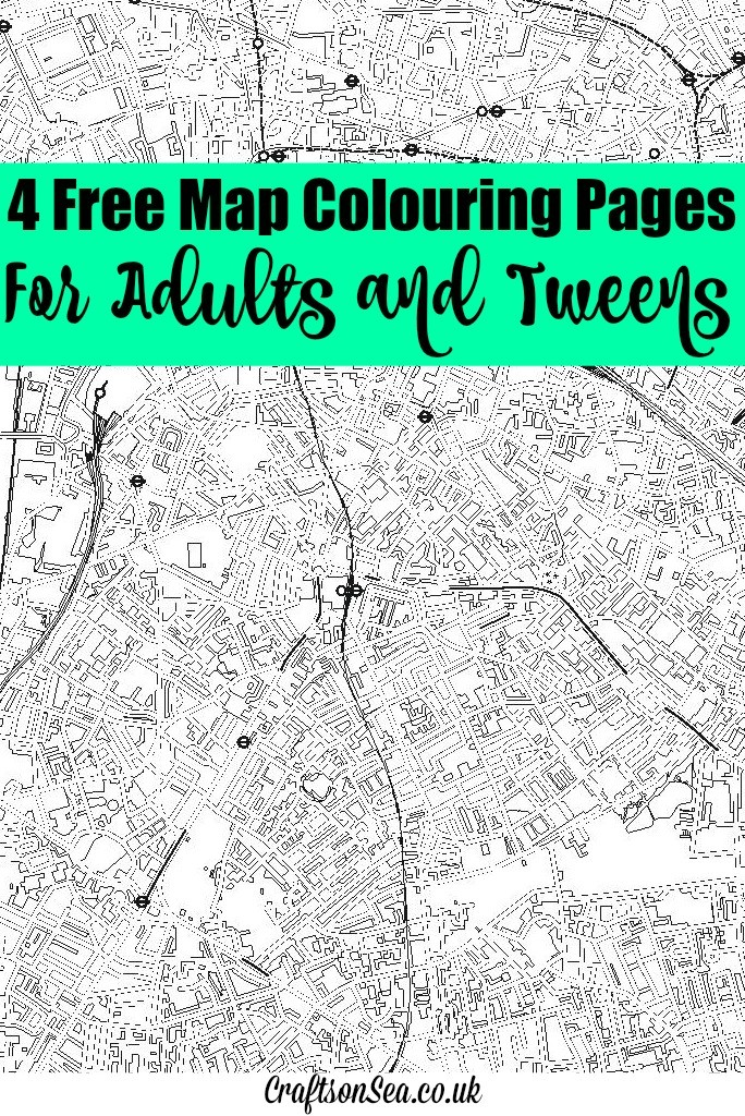 free map colouring pages for adults and tweens