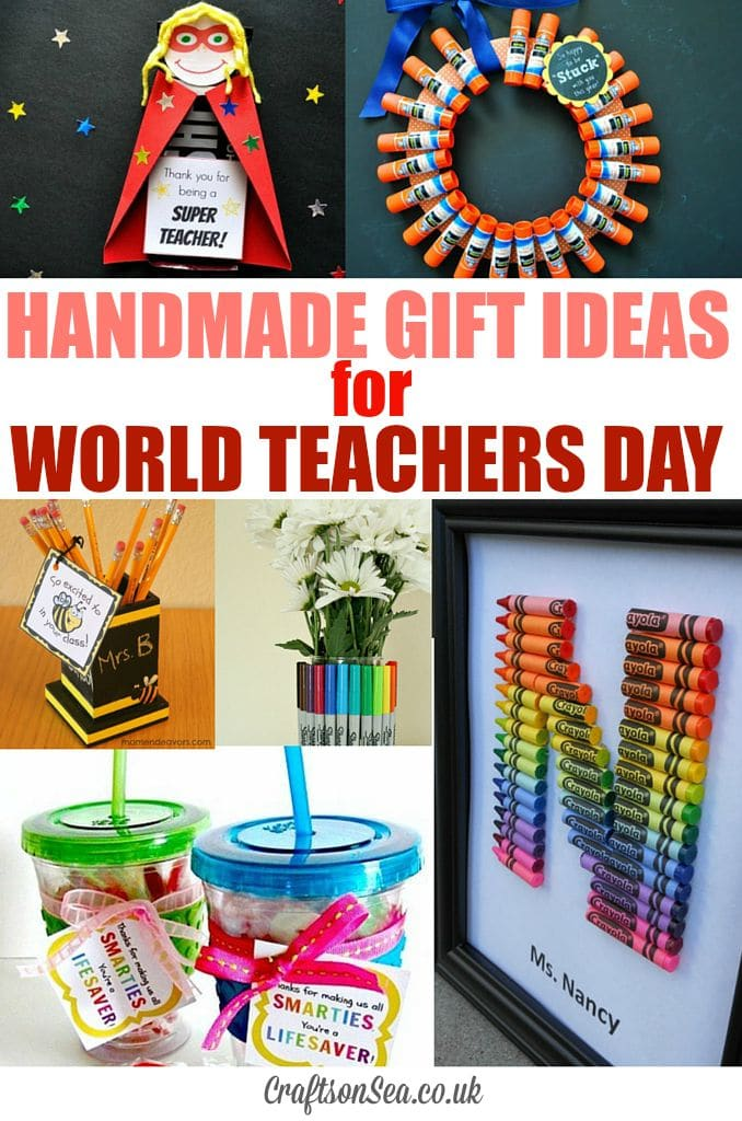 World Teachers Day and Teachers Gift Ideas - Crafts on Sea