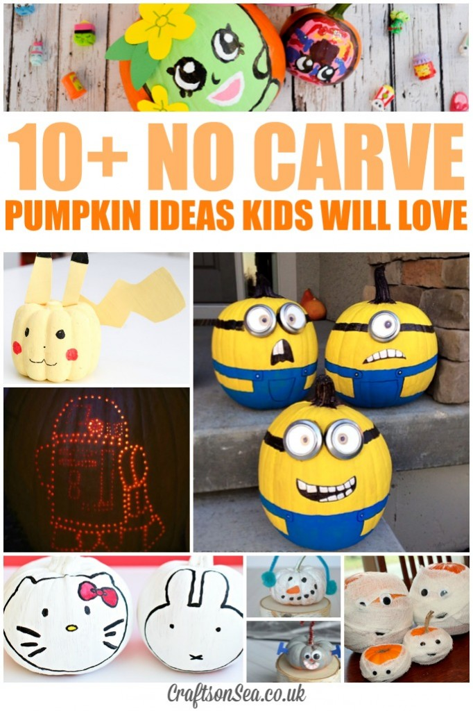 no carve pumpkin ideas kids will love
