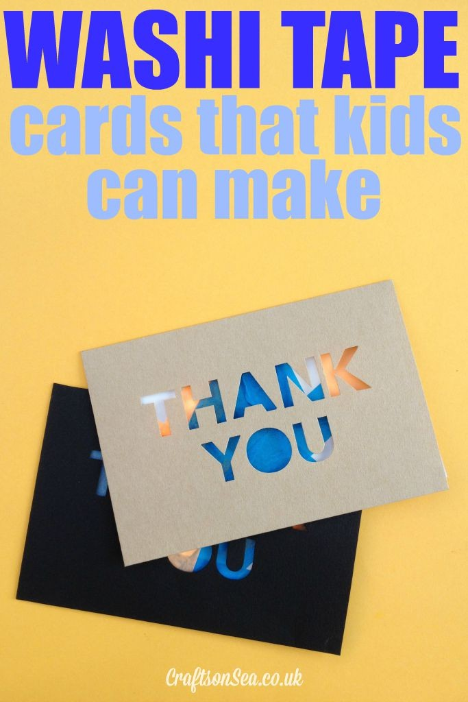 washi tape cards that kids can make