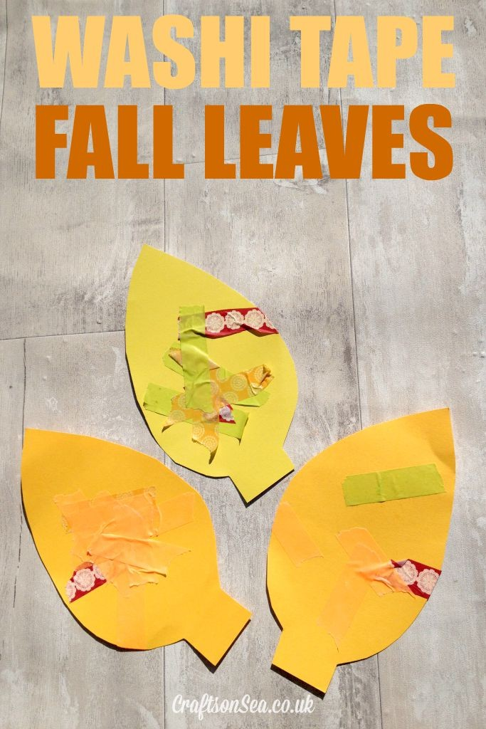 washi tape fall leaves craft for kids