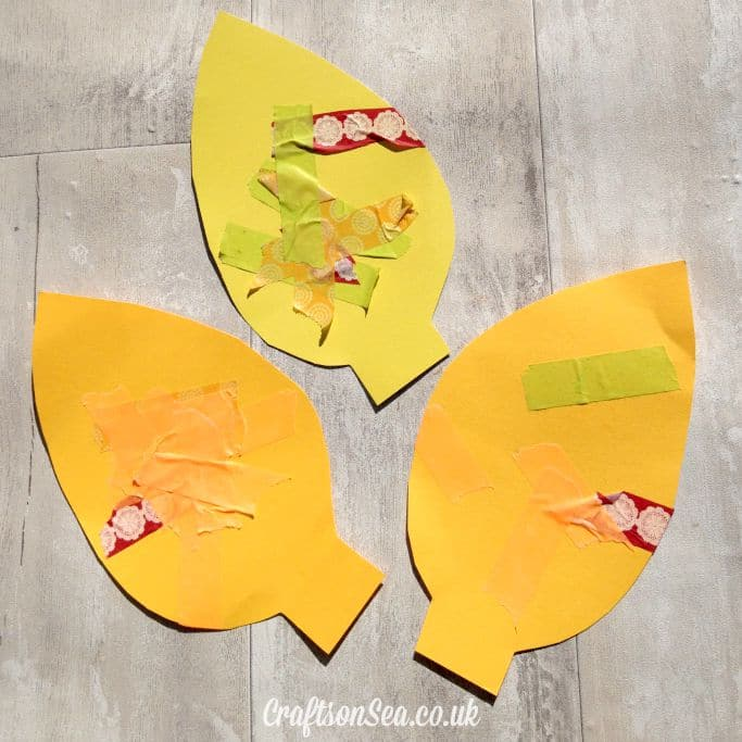 washi tape fall leaves craft for kids square