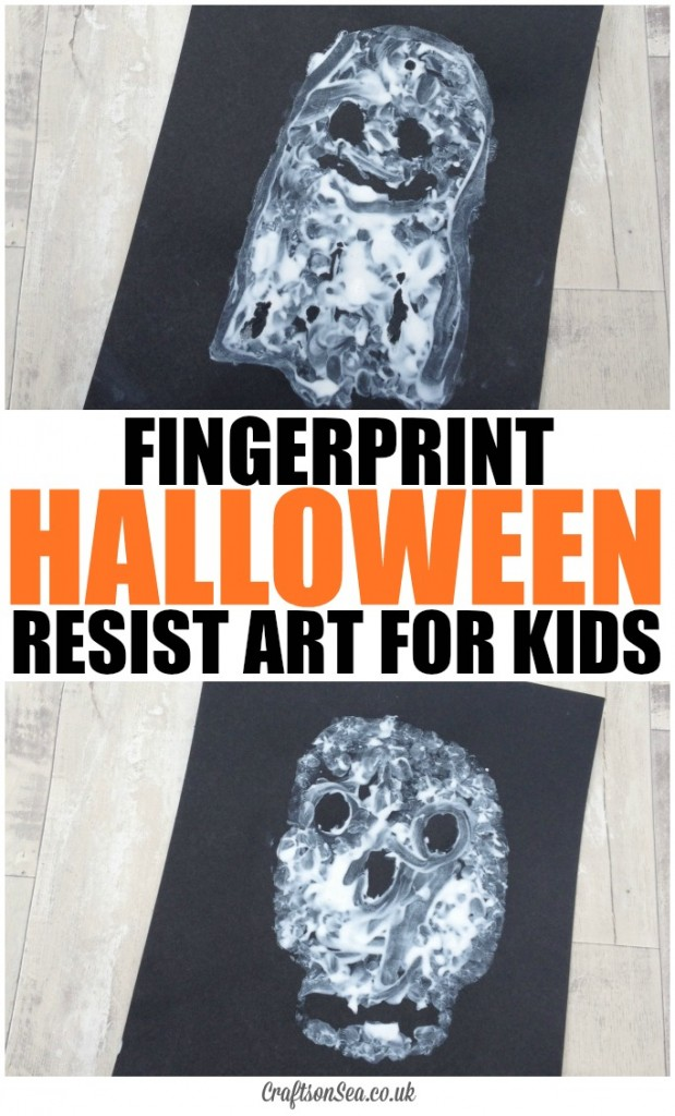 FINGERPRINT HALLOWEEN RESIST ART FOR KIDS