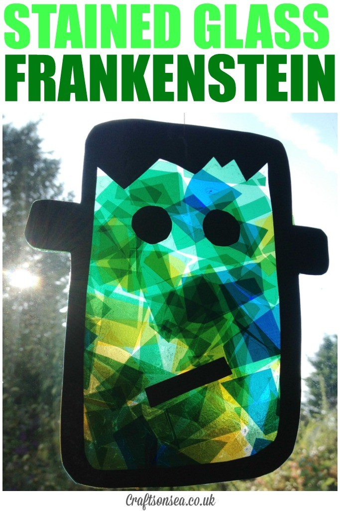 Stained glass frankenstein