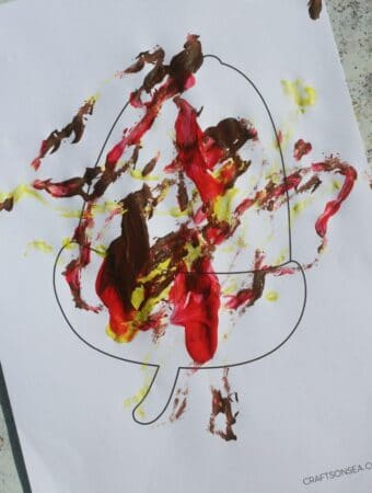 acorn painting activity for kids preschool process art