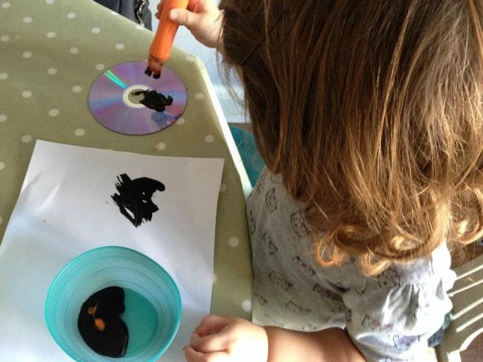 cd spider craft for kids