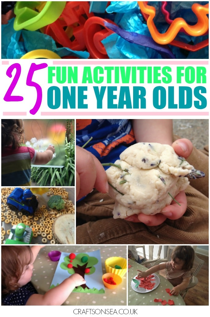 fun activities for one year olds crafts sensory play