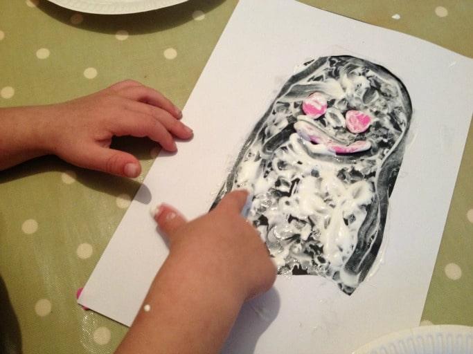 ghost resist art for kids