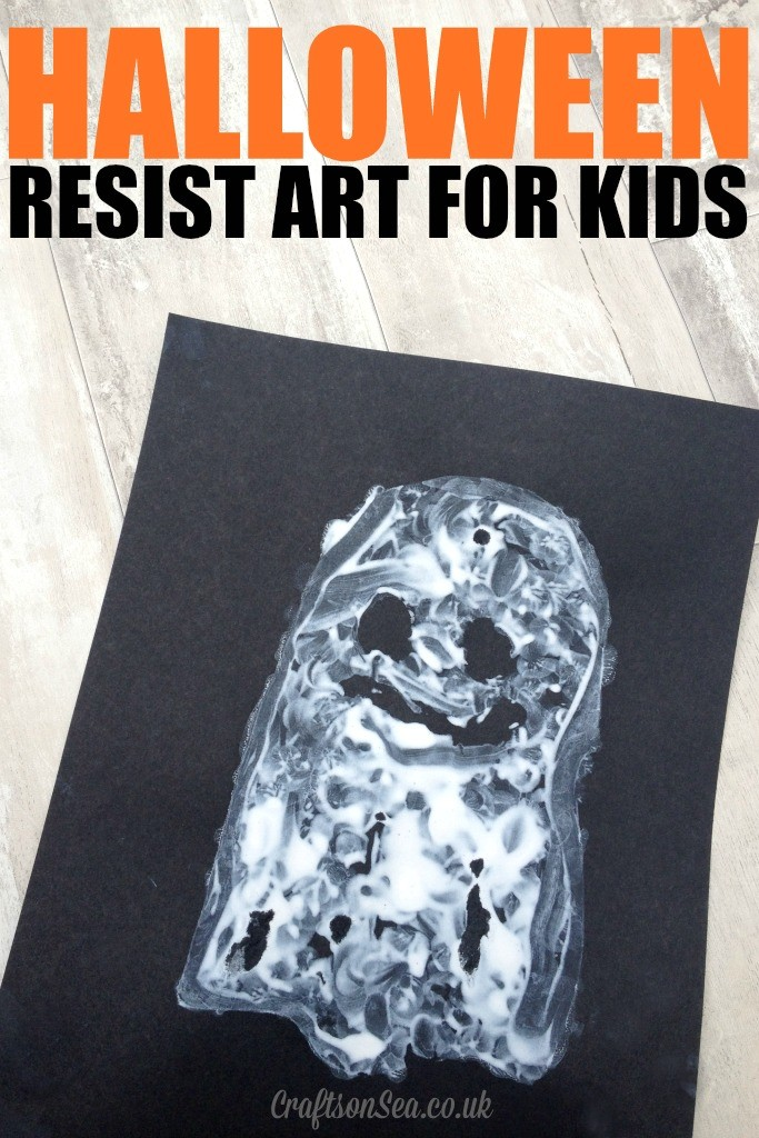 halloween resist art for kids