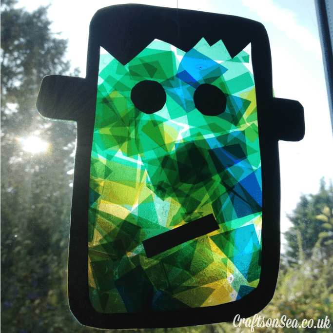 halloween suncatcher craft for kids