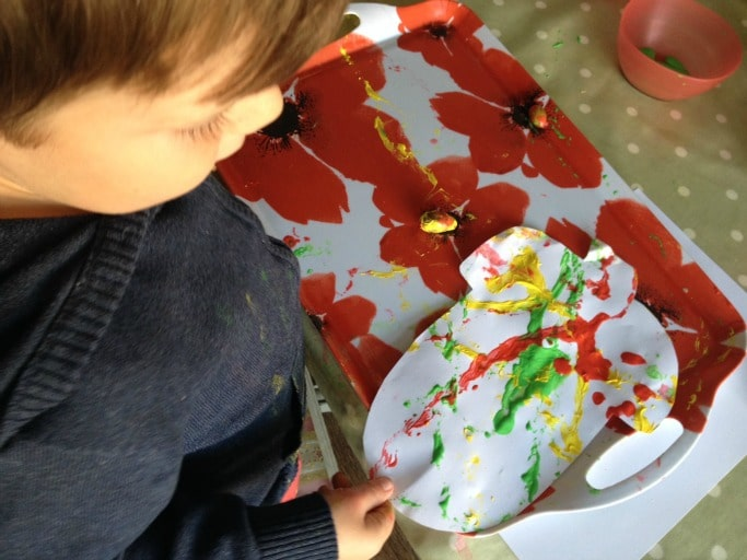 kids acorn crafts painting ideas