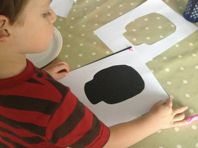 kids skull painting craft