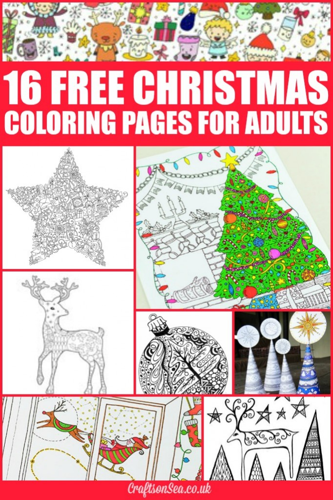 Free Christmas coloring pages for adults
