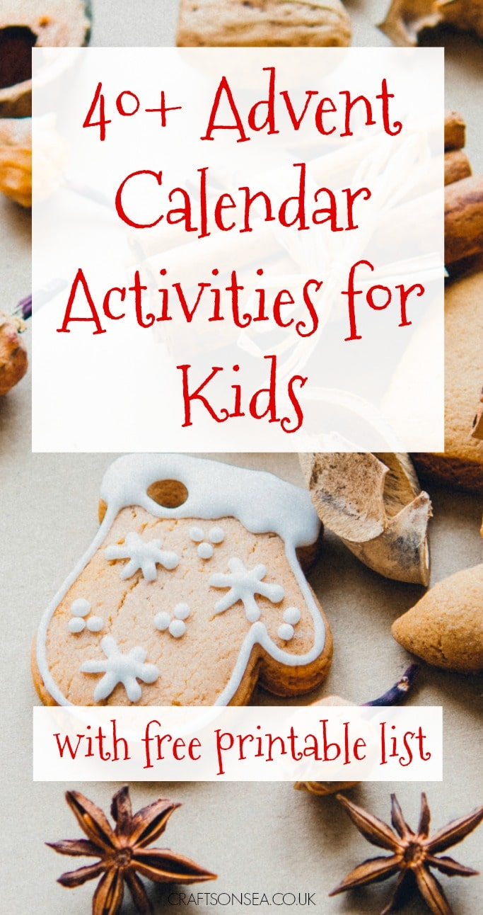advent calendar activities for kids with printable