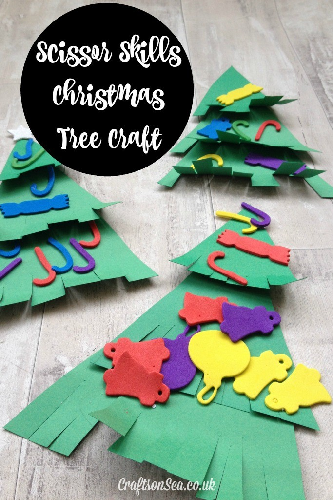 scissor skills christmas tree craft