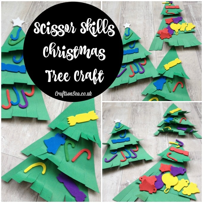 scissor skills christmas tree craft