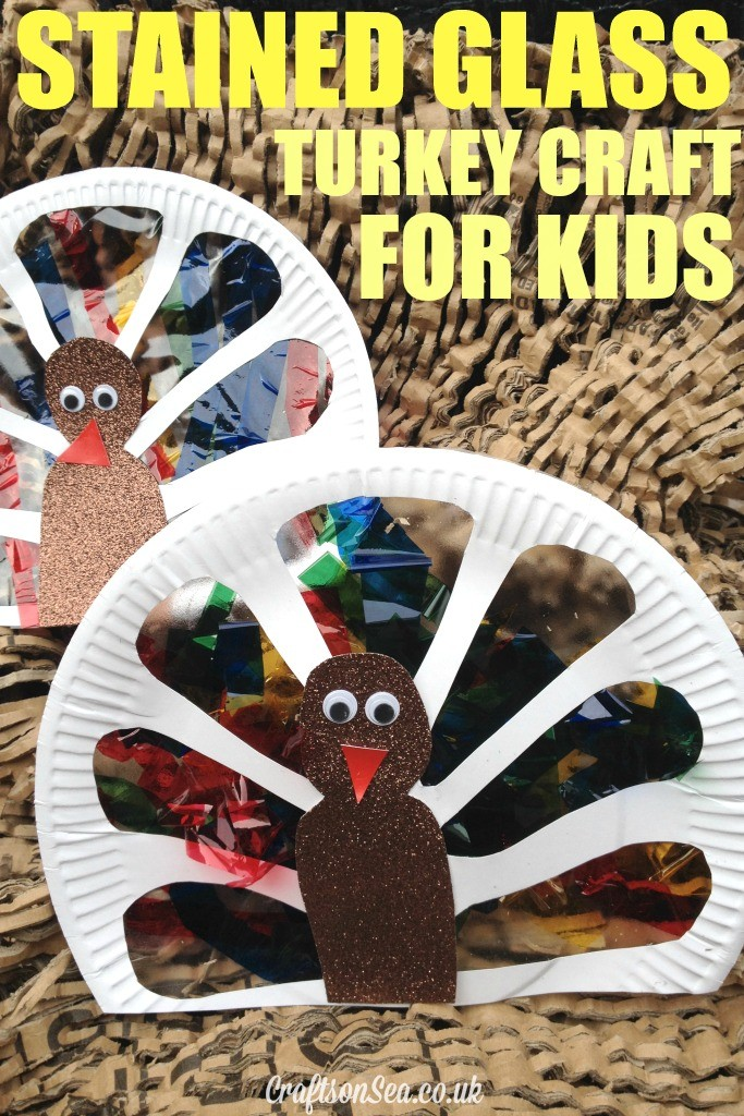 stained glass turkey craft for kids