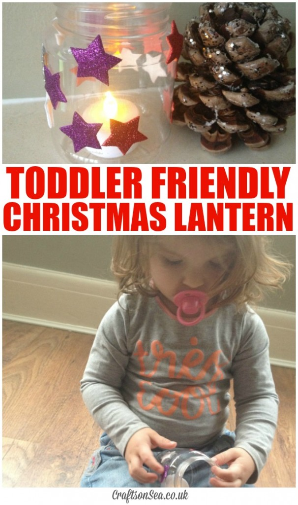toddler safe christmas lantern craft