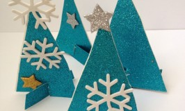 Glittery Winter Tree Crafts for Kids