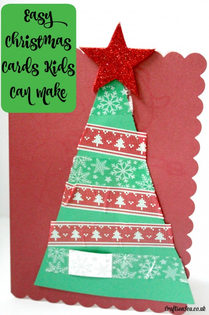 easy christmas cards kids can make
