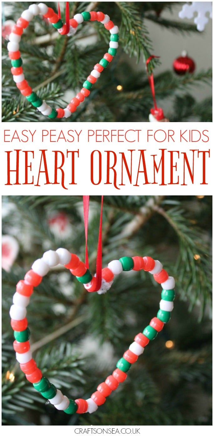 easy christmas ornament kids can make fine motor skills