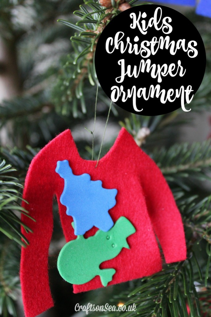 kids christmas jumper ornament